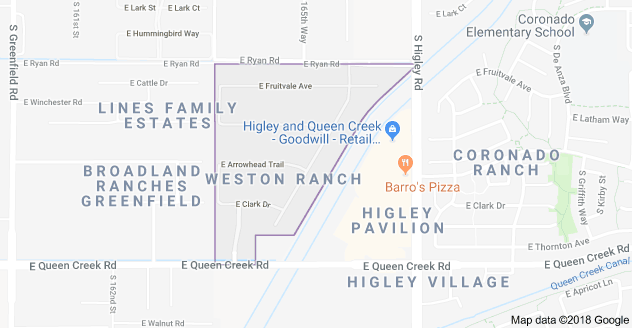 WESTON RANCH MAP